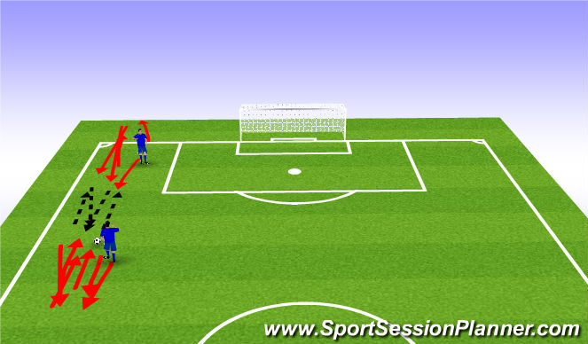 Football/Soccer Session Plan Drill (Colour): passing while on the move