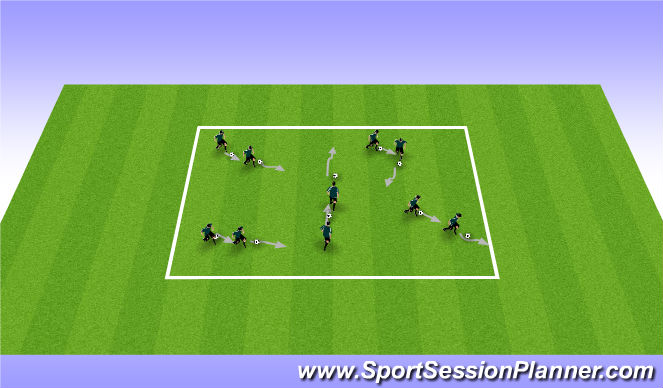 Football/Soccer Session Plan Drill (Colour): The Shadow