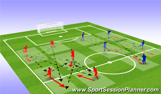 Football/Soccer Session Plan Drill (Colour): ΠΡΟΘΕΡΜΑΝΣΗ - ΤΕΧΝΙΚΗ