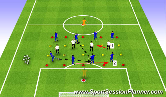 Football/Soccer Session Plan Drill (Colour): Triggers 1/2