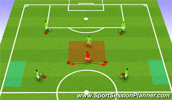 Football/Soccer Session Plan Drill (Colour): CM field training