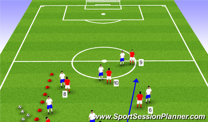 Football/Soccer Session Plan Drill (Colour): Phase II