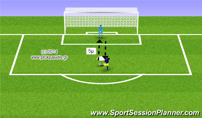Football/Soccer Session Plan Drill (Colour): Προθέρμανση των ποδιών με πάσες