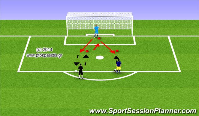 Football/Soccer Session Plan Drill (Colour): Προθέρμανση με σχήμα V
