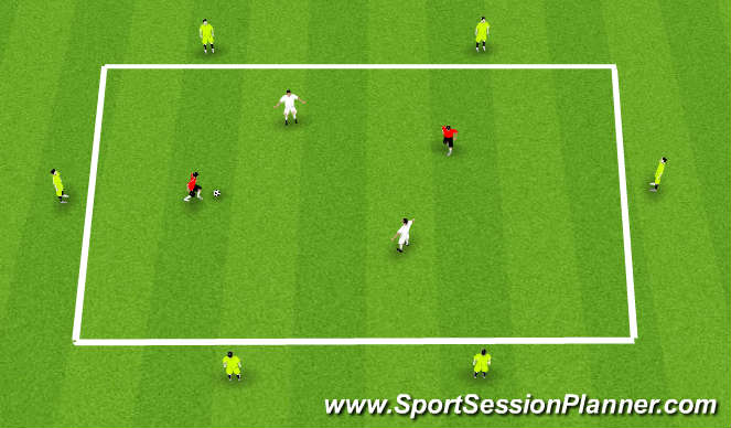 Football/Soccer Session Plan Drill (Colour): 2 v 2 Possession