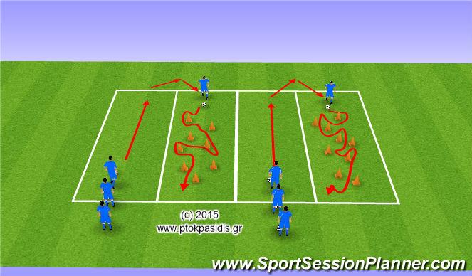 Football/Soccer Session Plan Drill (Colour): ΤΕΧΝΙΚΗ με ΜΠΑΛΑ