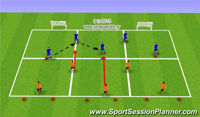 Football/Soccer Session Plan Drill (Colour): ΥΨΗΛΗ ΠΙΕΣΗ