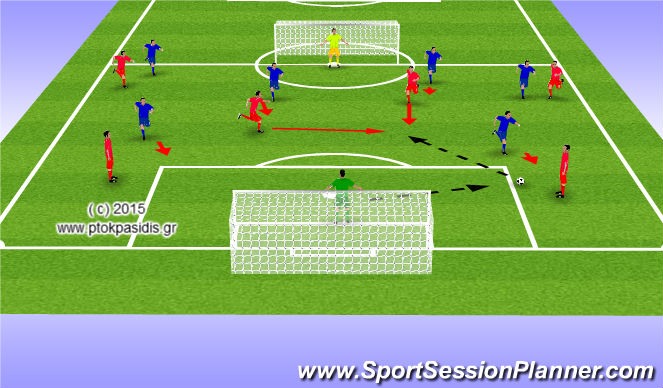 Football/Soccer Session Plan Drill (Colour): ΠΑΙΧΝΙΔΙ