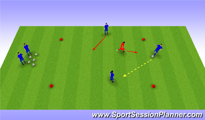 Football/Soccer Session Plan Drill (Colour): 3 v 1 Rondo