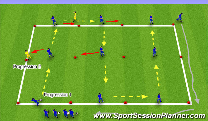 Football/Soccer Session Plan Drill (Colour): S-Pattern Passing