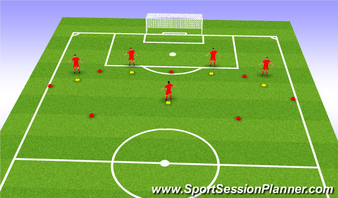 Football/Soccer Session Plan Drill (Colour): Playing out of the Back Pattern Play