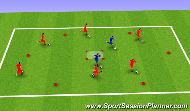 Football/Soccer Session Plan Drill (Colour): Everybody Out