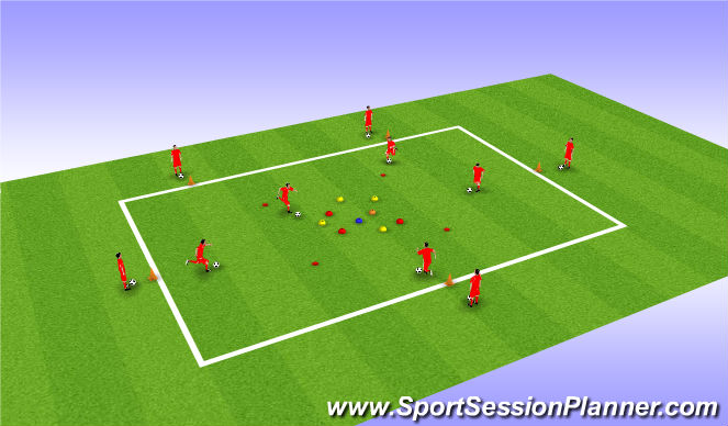 Football/Soccer Session Plan Drill (Colour): The Supermarket