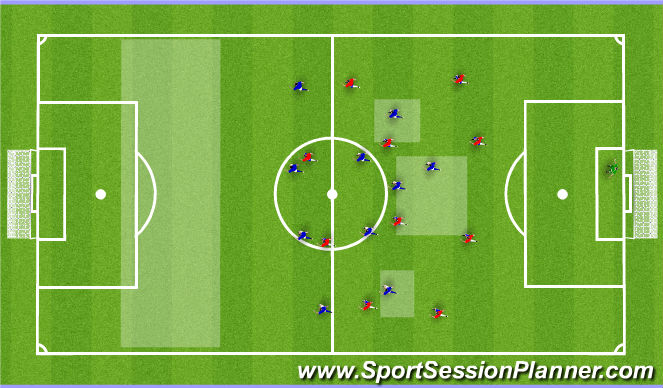 Football/Soccer Session Plan Drill (Colour): 11v11 Set up