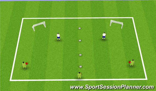 Football/Soccer Session Plan Drill (Colour): Defender Training 1