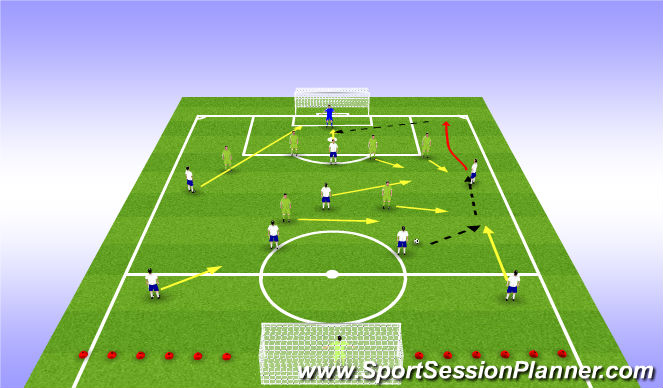 Football/Soccer Session Plan Drill (Colour): line training phase