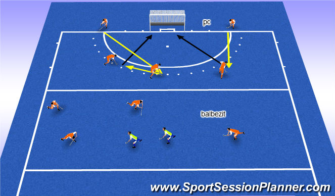 Hockey Session Plan Drill (Colour): pc +balbezit +match