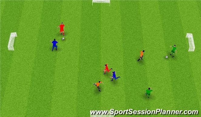 Football/Soccer Session Plan Drill (Colour): Leikræn þjálfun2