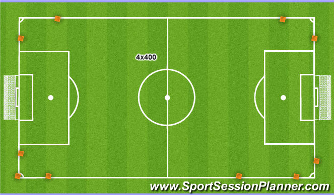 Football/Soccer Session Plan Drill (Colour): 4x400
