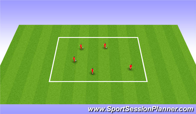 Football/Soccer Session Plan Drill (Colour): Skill Zone