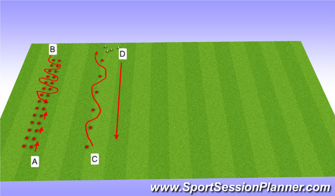 Football/Soccer Session Plan Drill (Colour): Screen 1 warm up