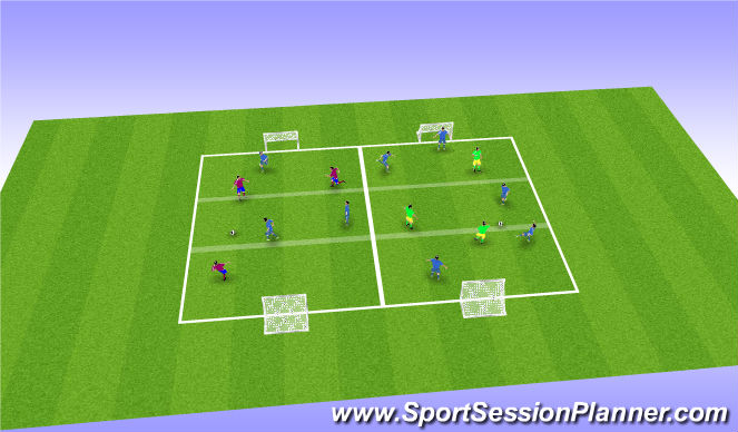 Football/Soccer Session Plan Drill (Colour): Screen 4 SSGames