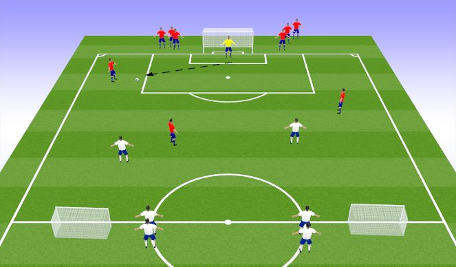 Football/Soccer Session Plan Drill (Colour): Expanded Small Side Game