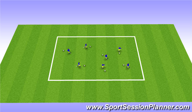 Football/Soccer Session Plan Drill (Colour): Dribbling Vitamins