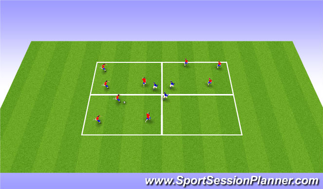 Football/Soccer Session Plan Drill (Colour): Warm up Activity - Passing