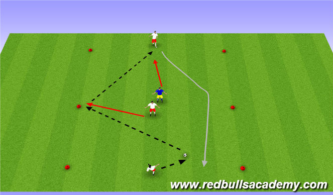 Football/Soccer Session Plan Drill (Colour): Fully Opposed (U11/12)