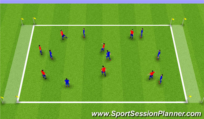 Football/Soccer Session Plan Drill (Colour): Possession Endline Game
