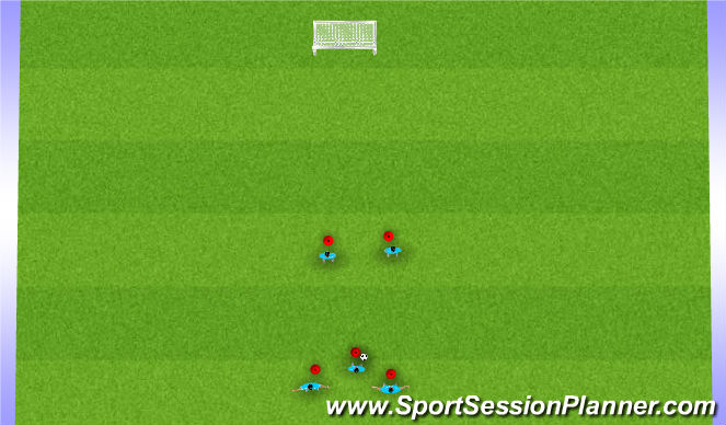 Football/Soccer Session Plan Drill (Colour): Jail Game Progression #1
