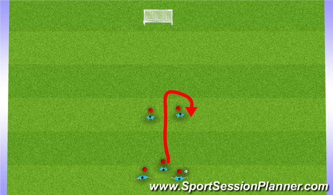 Football/Soccer Session Plan Drill (Colour): Jail Game Progression #2
