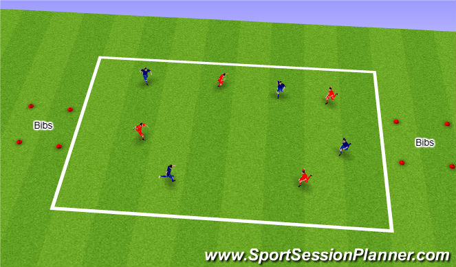 Football/Soccer Session Plan Drill (Colour): Bib Snatch