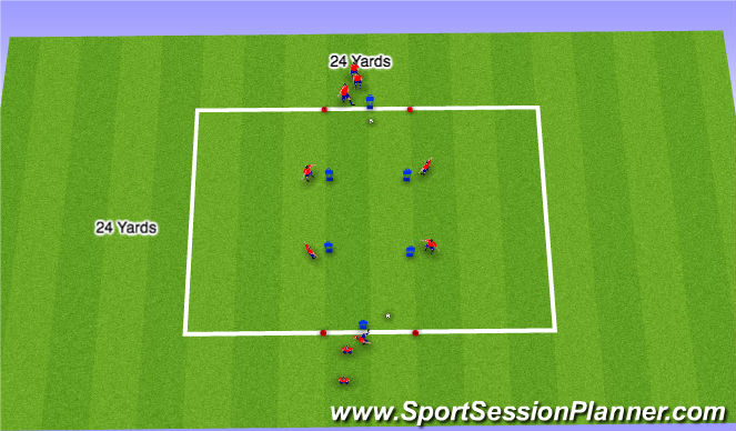 Football/Soccer Session Plan Drill (Colour): Receiving To Play Forward (Techniqual)