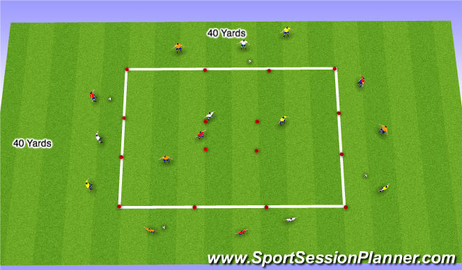 Football/Soccer Session Plan Drill (Colour): Expand Small Activity