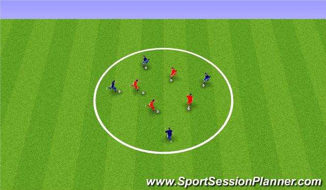 Football/Soccer Session Plan Drill (Colour): Fundamental Movement Ball Game