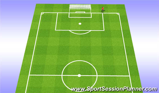 Football/Soccer Session Plan Drill (Colour): 12min run