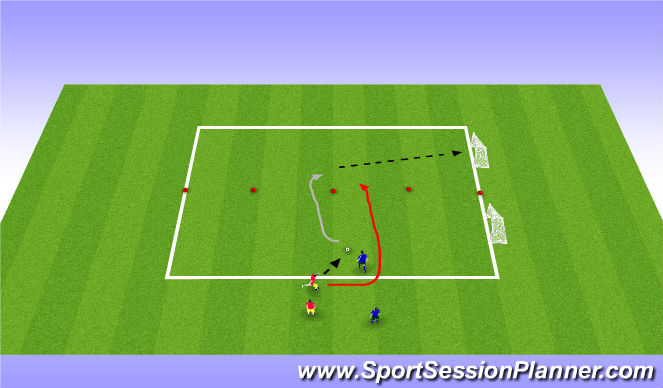 Football/Soccer Session Plan Drill (Colour): Activity 3 - Coerver