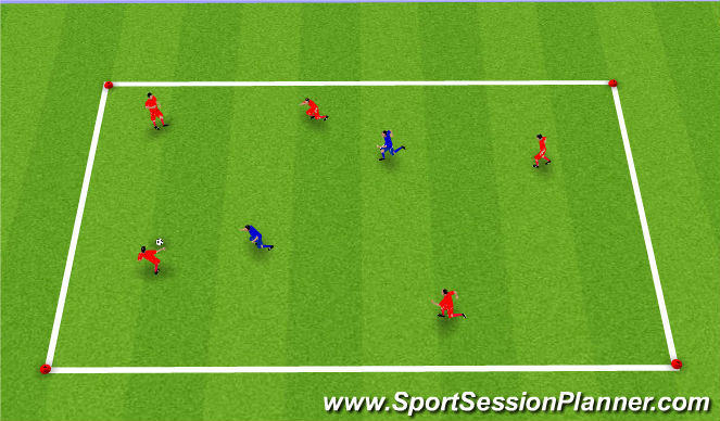 Football/Soccer Session Plan Drill (Colour): Upphitun3: