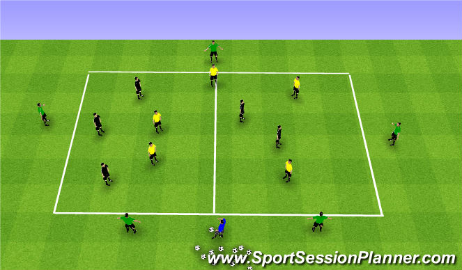 Football/Soccer Session Plan Drill (Colour): Transition Possession Game