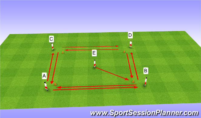 Football/Soccer Session Plan Drill (Colour): Movement/Dribbling Warm Up Game