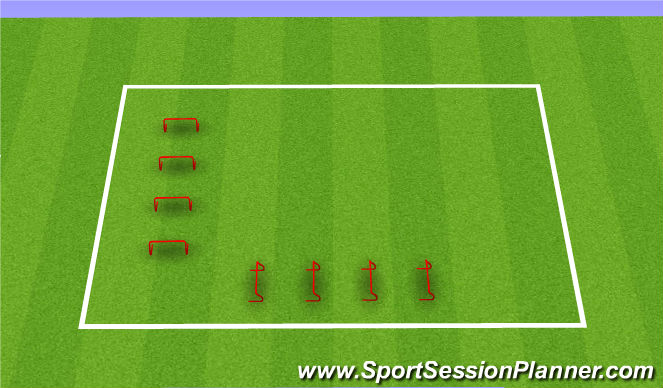 Football/Soccer Session Plan Drill (Colour): Hurdles