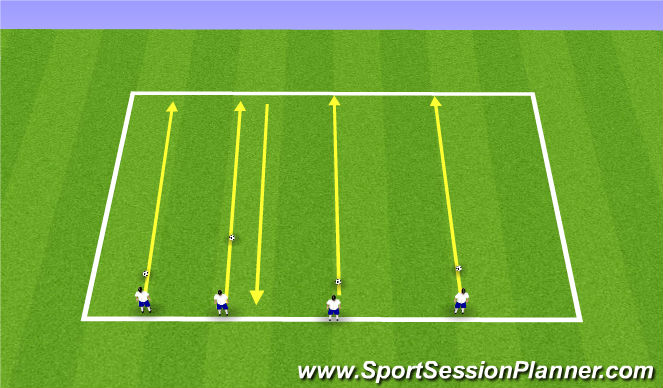 Football/Soccer Session Plan Drill (Colour): Parachute & Bag Run