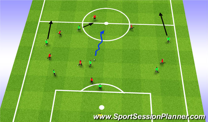Football/Soccer Session Plan Drill (Colour): Game Activity
