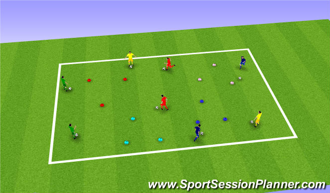 Football/Soccer Session Plan Drill (Colour): Odd One Out