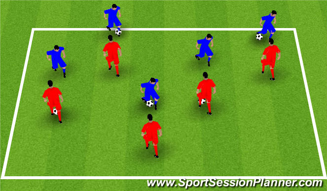 Football/Soccer Session Plan Drill (Colour): Defensive Stance