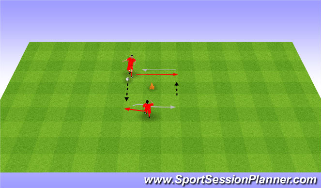 Football/Soccer Session Plan Drill (Colour): 5. 2 touch and pass. Przyjęcia i podania.