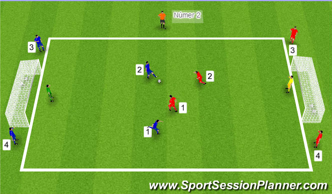 Football/Soccer Session Plan Drill (Colour): Tölubolti