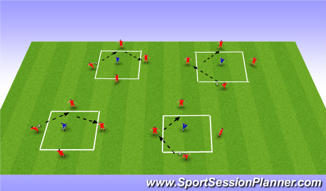 Football/Soccer Session Plan Drill (Colour): Warm - Up Rondo